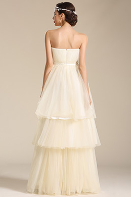 edressit strapless layered wedding dress bridal gown 01150913