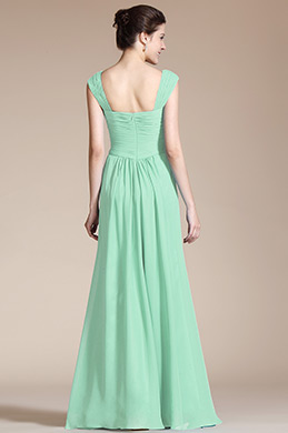 robe demoiselle d 39 honneur soir e vert menthe en ligne. Black Bedroom Furniture Sets. Home Design Ideas