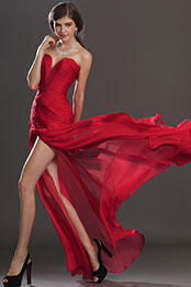 eDressit Artikel Schick Faltig Oberkörper Rot Abendkleid (00120502)