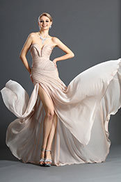 eDressit Schick Faltig Oberkörper Abendkleid (00120514)