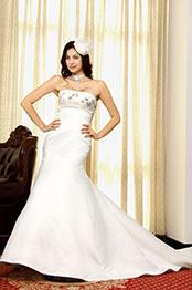 eDressit Elegant  Weiß Diamanten und Perlen Brautkleid (01092307)