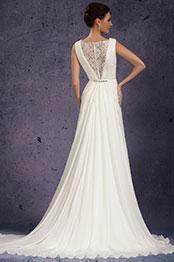 eDressit Nouveautés Elégante Col en V Perles Délicates Robe de mariée (01130707)