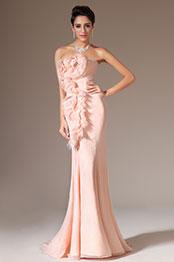 eDressit 2014 Nouveauté Rose Bustier Sirène Fleurs Robe de Soirée Longue (02144501)