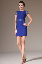 eDressit 2014 New Blue Lace Cocktail Dress Day Dress (03140305)