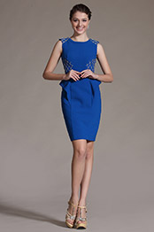 eDressit 2014 Novedad Azul de moda Sin mangas Vestido de Coctel/Dia(03142305)