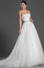 eDressit Elegant Trägerlos Hochzeit Kleid (01121907)