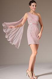 eDressit 2014 Nouveauté Rose Une Epaule Avec Drapé Robe de Cocktail(04141801)