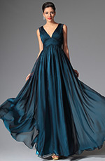 eDressit 2014 New Deep Blue Sexy V-neck Evening Dress Prom Gown (02149405)