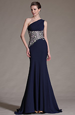 eDressit 2014 New Dark Blue One-Shoulder Evening Dress (00142305)