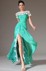 eDressit 2014 Nuevo Verde Arriba Encaje Apliques Raja Alta Vestido de Celemonia(02142804)
