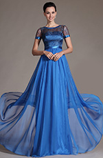 eDressit 2014 New Blue Sheer Top Mother of the Bride Dress (26146405)