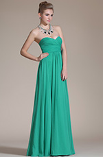 Carlyna 2014 New Green Strapless Pleated Evening Dress/Bridesmaid Dress (C00113911)