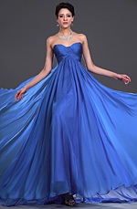 eDressit Strapless Blue Evening Dress (00117905)