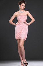 eDressit New Pink Adoral Strapless Party Dress (04114901)