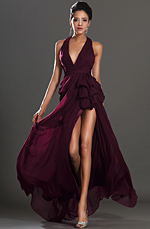 eDressit New Stylish Halter V cut High Split Evening Dress (00131117)