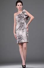 eDressit estilo Leopardo solo hombro vestido de la Oficina (26110341)