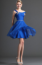 eDressit Charming Bretelle unique Robe de Cocktail Bleu (04123005)