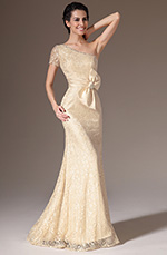 eDressit 2014 New Champagne One-Shoulder Sheath Lace Evening Gown (26142414)