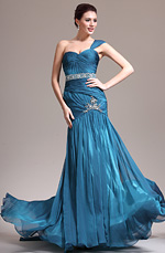 eDressit Nouveauté Une Bretelle Magnifique Bleue Robe de Soirée (02132905)