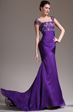 eDressit 2013 New Stylish Cap Sleeves Purple Evening Dress (02132406)