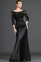 eDressit Stylish Black Lace Sleeves Mother of the Bride Dress (26121800)