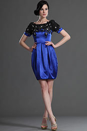 eDressit Short  Sleeves Blue Mother of the Bride Dress (26125405)