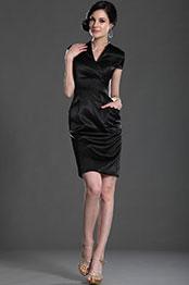 eDressit Elegante Negro de Mangas Vestido de Honor para Dama (26127200)