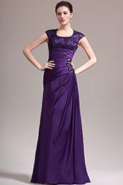 eDressit Nouveauté Adorable Manches Couvertes Violette Robe Mère de Mariée (26134606)
