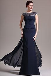 eDressit Sexy Runde Ausschnitt Spitze Dunkel Blau Kleid für Braut´s Mutter (26134705)