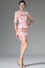 eDressit 2014 Neu Pink Spitze Oberteil & Ärmel Knie Lang Formal KLeid (26144601)
