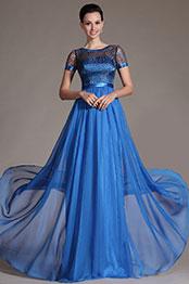 eDressit 2014 New Blue Sheer Top Mother of the Bride Dress (26146405)