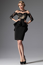 eDressit 2014 New Black Stylish Round Neckline Mother of the Bride Dress (26147400)