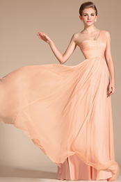 Carlyna 2014 New Super Fabulous One Shoulder Pink Evening Dress Bridesmaid Dress (C00120601)
