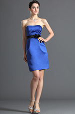 eDressit Strapless Blue Bridesmaid Dress Cocktail Dress Party Dress (07120505)