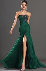 eDressit New Stunning Green High Slit Strapless Evening Dress (00134604)