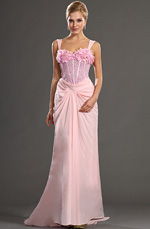 eDressit 2013 S/S Fashion Show Pink Straps Evening Dress Prom Gown (F00130801)
