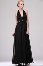 eDressit New Black Halter V-cut Evening Dress (00110500)