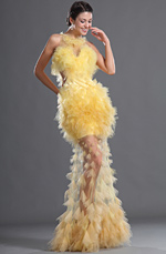 eDressit Gauze Sexy Yellow Evening Dress (02121203)