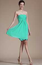 Carlyna 2014 New Arrivals Lovely Strapless Cocktail Dress Bridesmaid Dress (C04112411)