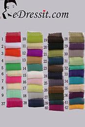 eDressit gefaltet Seide Chiffon Farbemuster (31660101A)