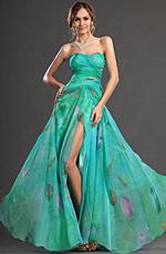 eDressit New Elegent High split Printed Fabric Evening Dress (00129568)