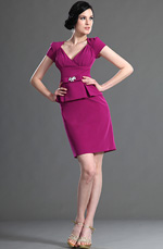 eDressit V-neckline Elegant Mother of the Bride Dress (26126312)