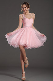 eDressit Pretty Pink One Strap Cocktail Dress Party Gown (35130801)