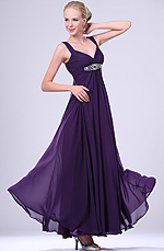 eDressit  New Elegant Purple Beaded  V-neck Evening Dress (00108606)
