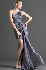 eDressit One shoulder Cocktail Dress with Detachable Train (04123106)