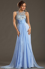 eDressit 2013 P/E Fashion Show Fleurs à La Main Bleu Robe de Soirée Robe de Bal (F00133232)