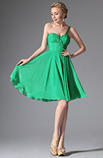 eDressit Simple One Shoulder Green Cocktail Dress Party Dress (w04122604)