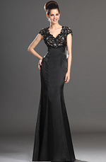 eDressit 2013 New Sexy V-neck Black Lace Mother of the Bride Dress (26133100)