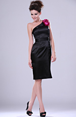 eDressit New Adoral Black Single Shoulder Party Dress (04113300)