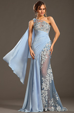 eDressit 2013 S/S Fashion Show Handmade Flowers Blue Evening Dress Prom Gown (F00133032)